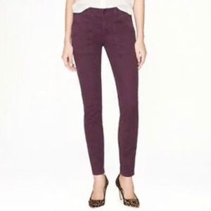 J Crew purple skinny utility chino pants